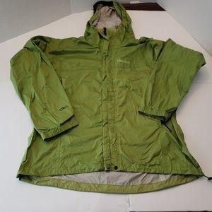 Marmot rain coat green jacket women's size XL